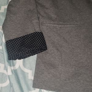 Apt. 9 Jackets & Coats - APT. 9 Gray Polka Dot Business Blazer